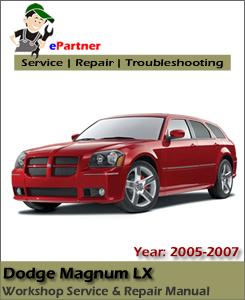 Dodge Magnum LX Service Repair Manual 2005-2007