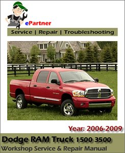 dodge ram truck 1500 3500 service repair manual 2006 2009. Black Bedroom Furniture Sets. Home Design Ideas