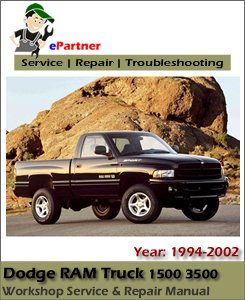 Dodge Ram Truck 1500 3500 Service Repair Manual 1994-2002