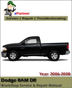 Dodge Ram DR Service Repair Manual 2006-2008