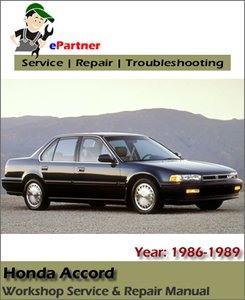 Honda Accord Service Repair Manual 1986-1989