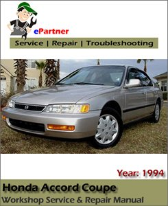 Honda Accord Coupe Service Repair Manual 1994-1997