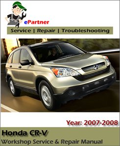 Honda CRV CR-V Service Repair Manual 2007-2009