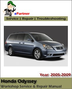 Honda Odyssey Service Repair Manual 2005-2009