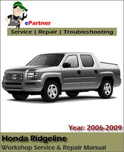 Honda Ridgeline Service Repair Manual 2006-2009