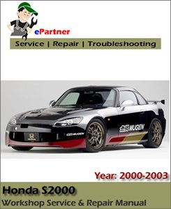 Honda S2000 Service Repair Manual 2000-2003
