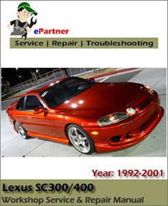 Lexus SC300 SC400 Factory Service Repair Manual 1992-2001