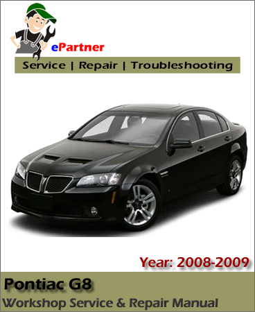 Pontiac G8 Service Repair Manual 2008-2009