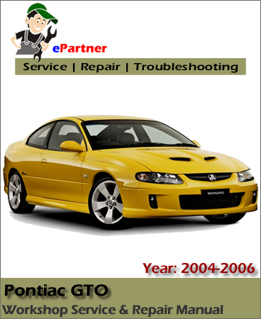 Pontiac GTO Service Repair Manual 2004-2006