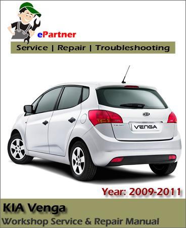 Kia Venga Service Repair Manual 2009-2011
