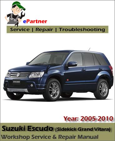 Suzuki Escudo Service Repair Manual 2005-2010