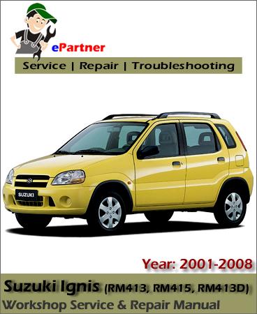 Suzuki Ignis Service Repair Manual 2001-2008