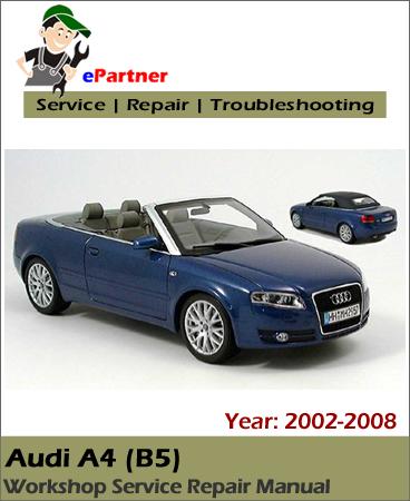 audi a4 b7 service repair manual 2002 2008 automotive. Black Bedroom Furniture Sets. Home Design Ideas
