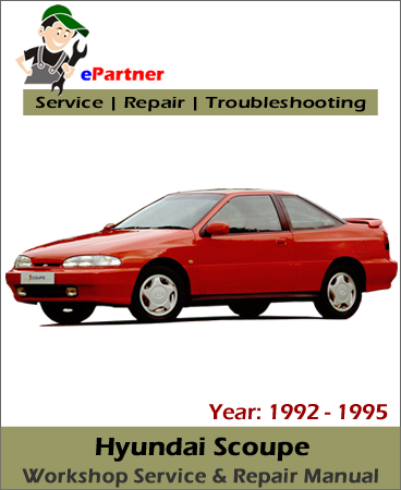 Hyundai Scoupe Service Repair Manual 1992-1995