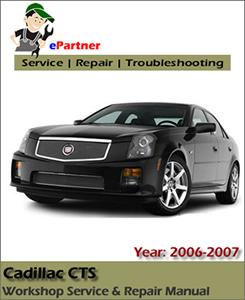 service 2006 cadillac manual cts